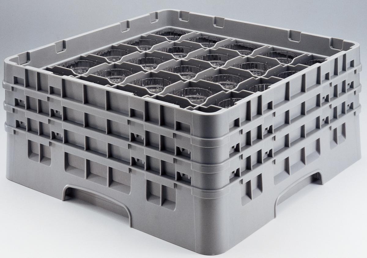 Casier de lavage carré gris 50x50 cm Camrack Cambro