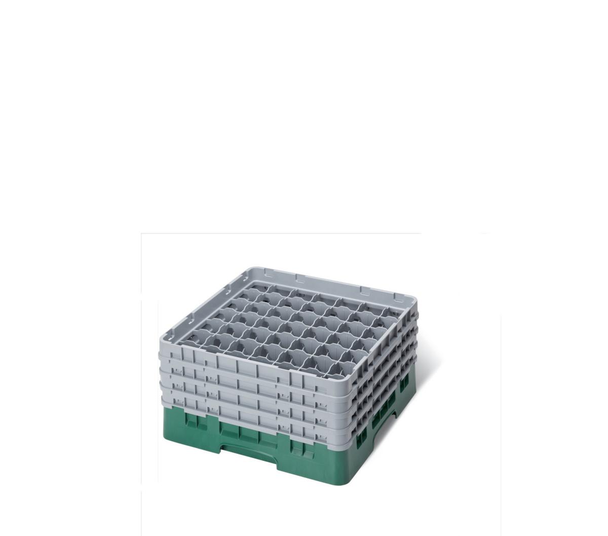 Casier de lavage carré vert 50x50 cm Camrack Cambro