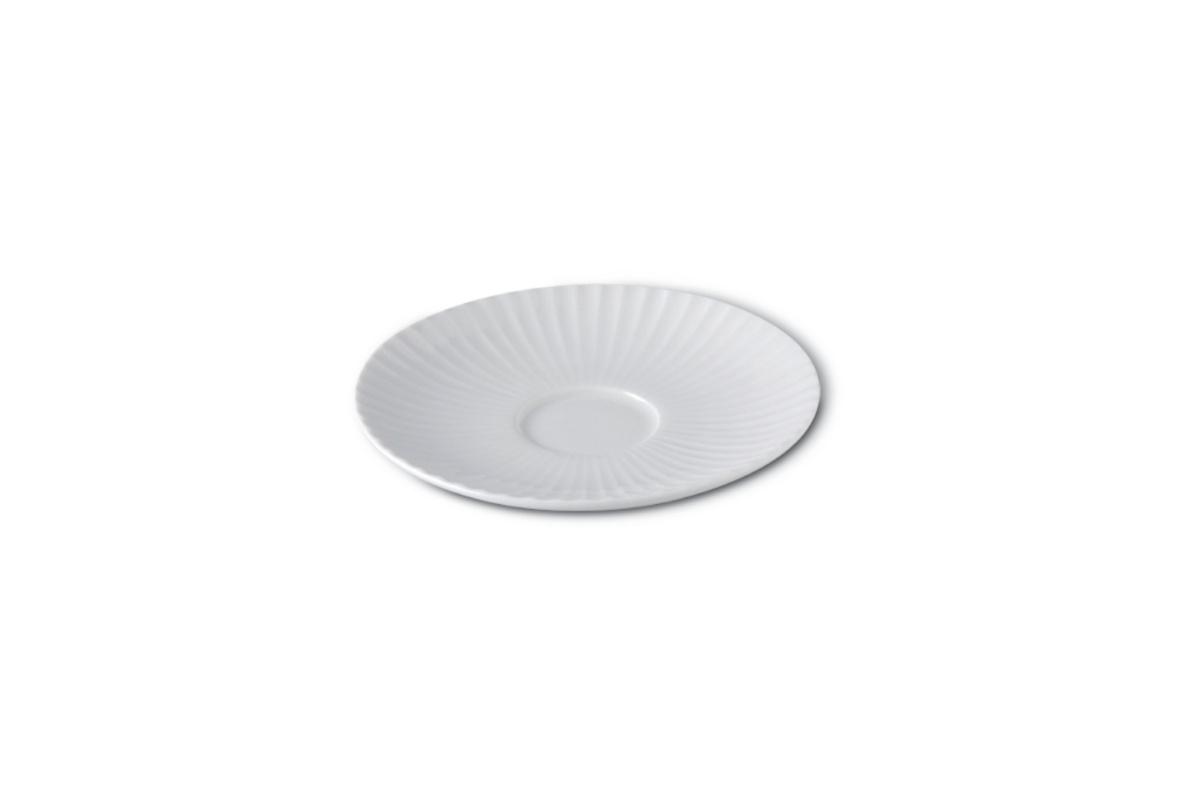 Sous-tasse à expresso ronde ivoire porcelaine Ø 13 cm Metropolis Rak