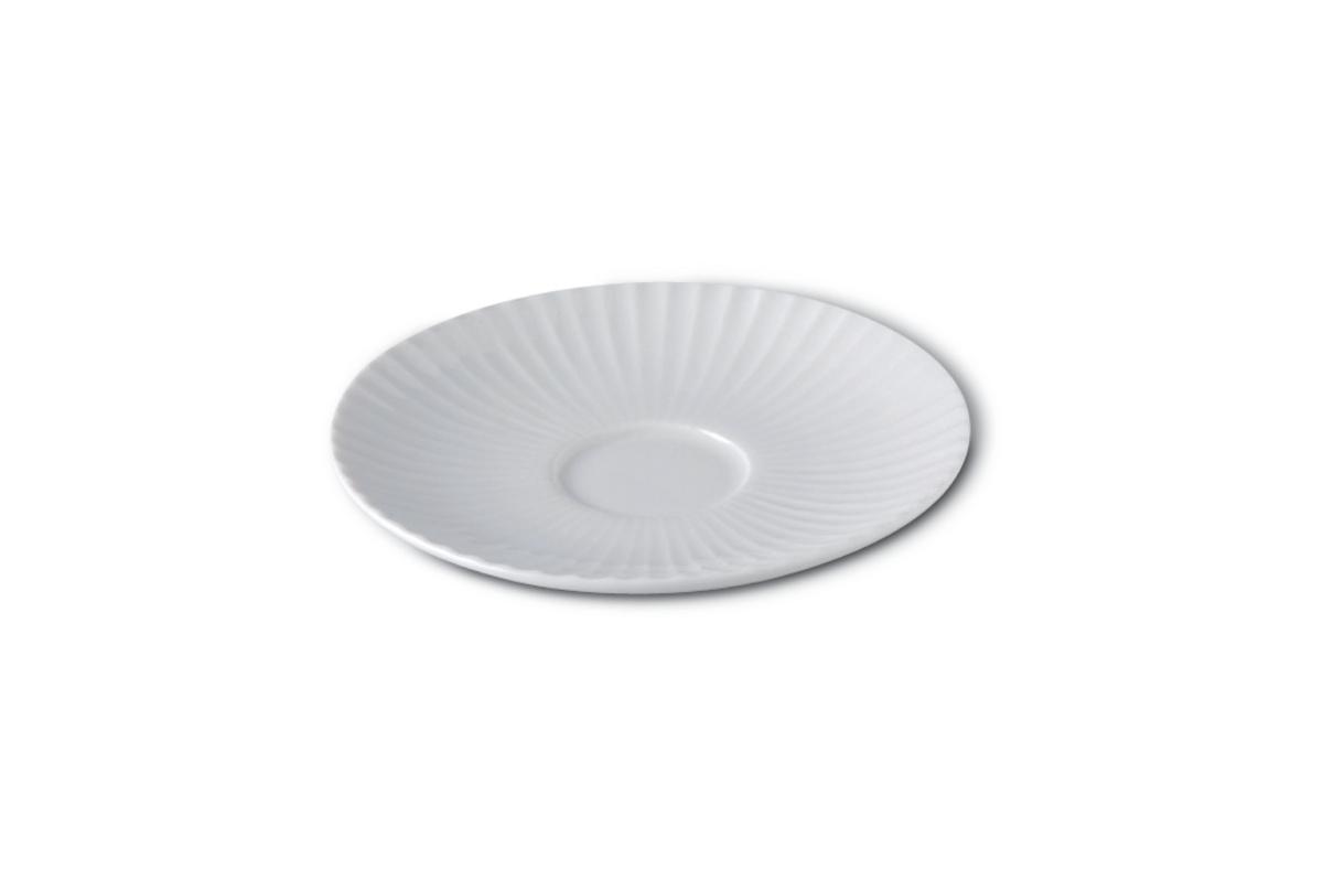 Sous-tasse à thé ronde ivoire porcelaine Ø 15 cm Metropolis Rak