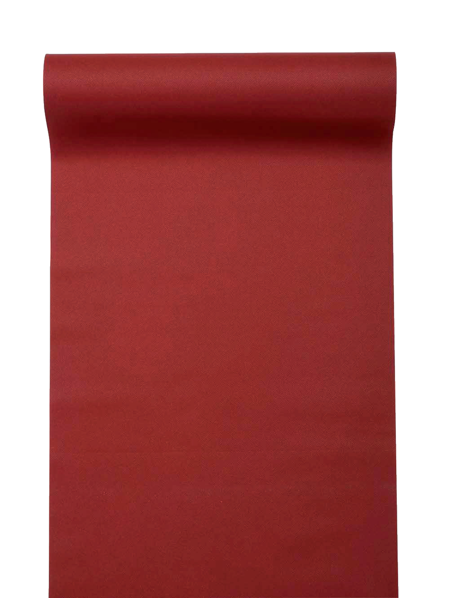 Rouleau de nappe bordeaux non tissé 25x1,20 m Lisah Pro.mundi