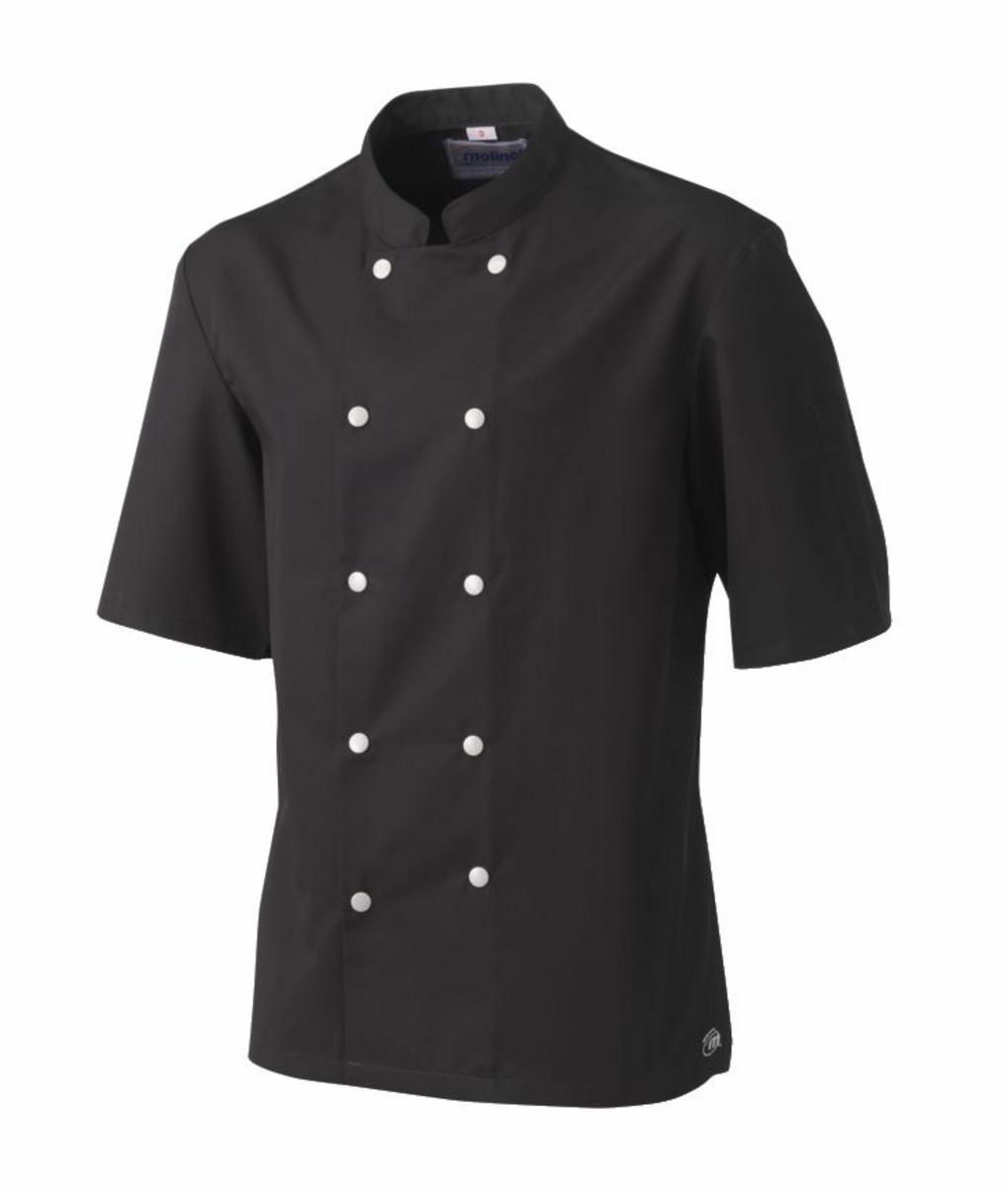 Veste de cuisine homme manche courte noire taille 2 Blake Molinel