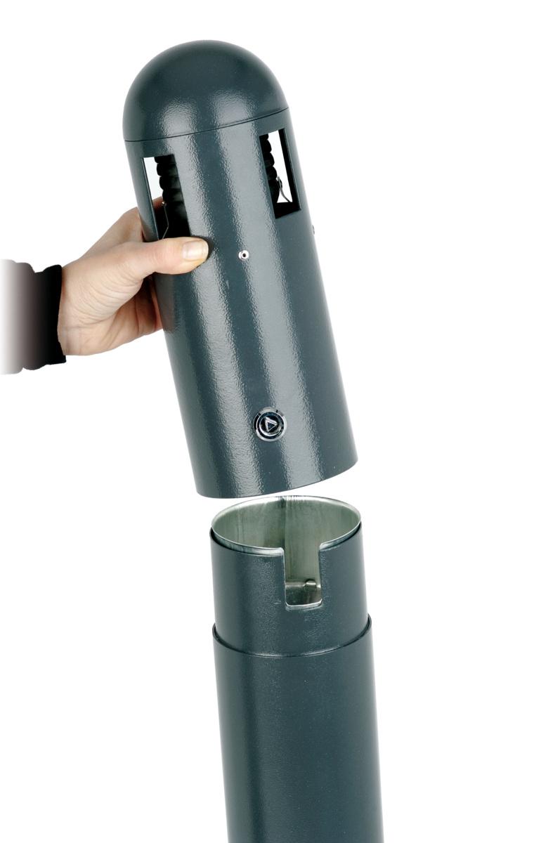 Borne cendrier gris 30x30 cm Probbax