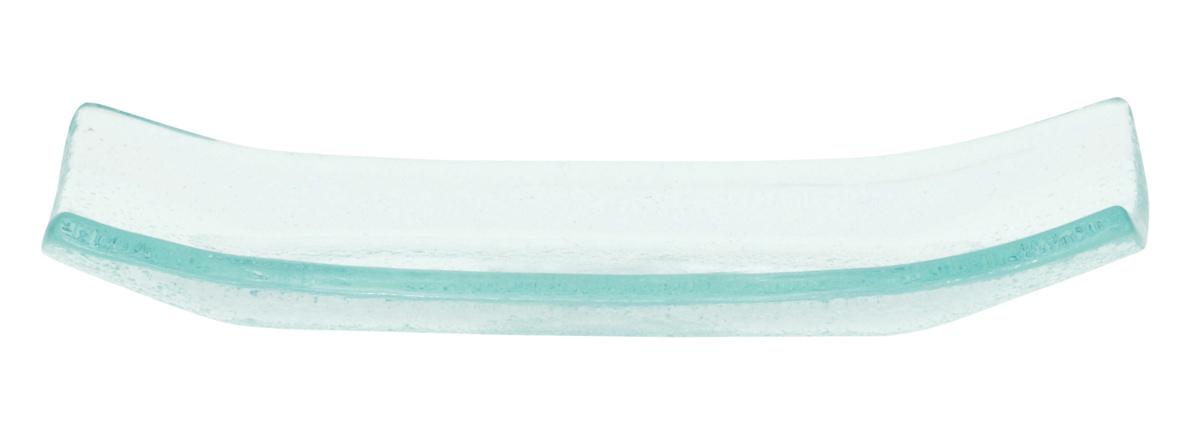 Plat transparent verre rectangulaire Bamboo Pro.mundi