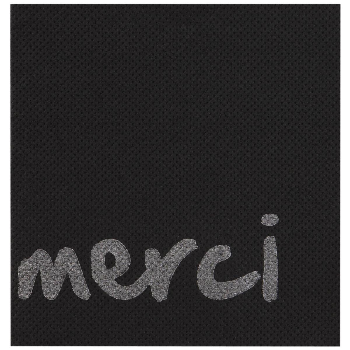 Serviette noire ouate de cellulose 20x20 cm Celi Ouate Cgmp (50 pièces)