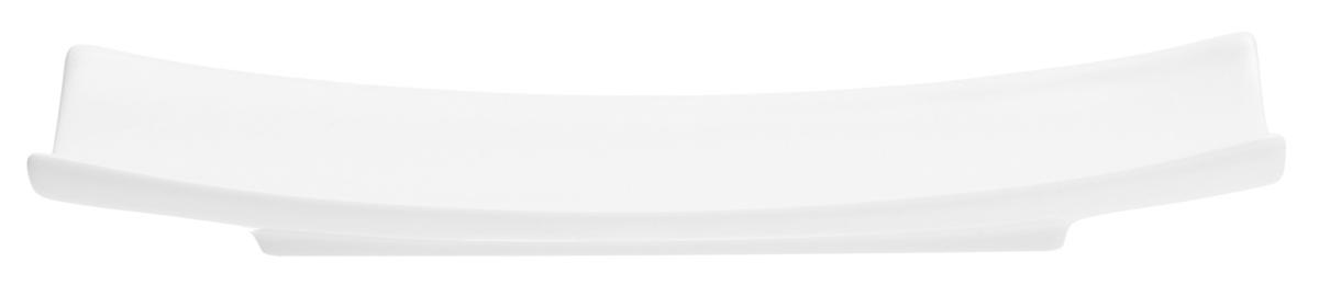 Plat blanc porcelaine rectangulaire Bamboo Pro.mundi