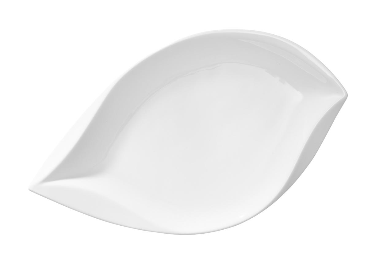 Assiette plate ovale blanc Folia Pro.mundi