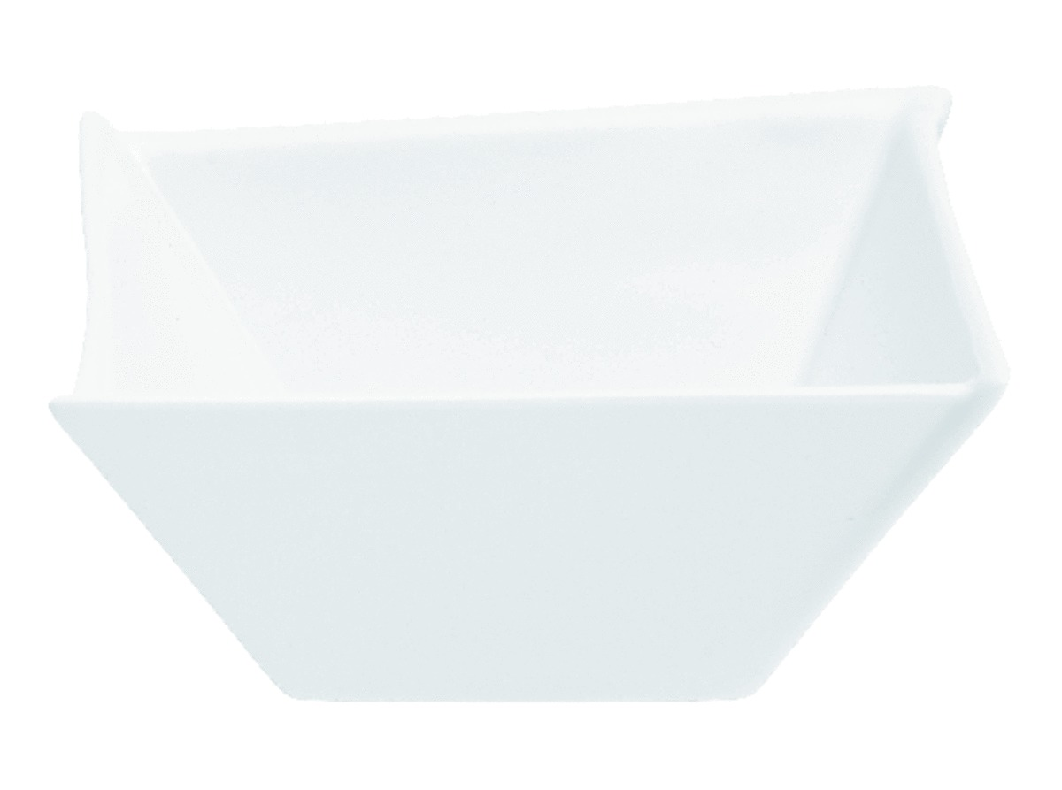 Coupelle carrée blanc porcelaine 30 cl 12,60 cm Twins Pro.mundi