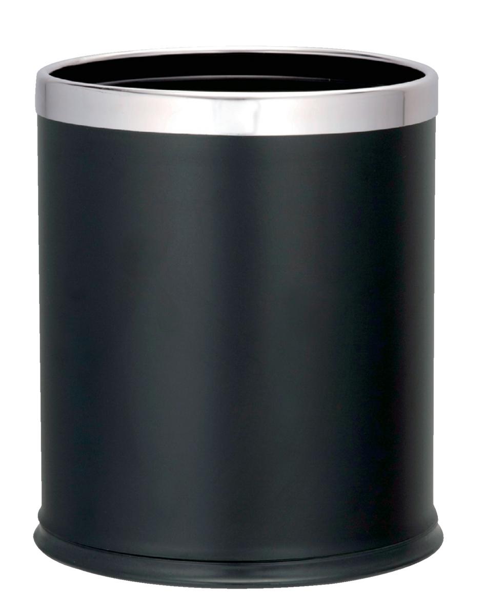 Corbeille ronde noire 10 l Probbax