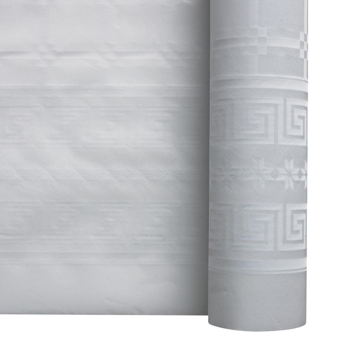 Rouleau de nappe blanc papier 100x1,20 m