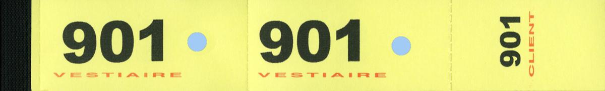 Numéro de vestiaire jaune papier 3x20 cm (1000 pièces)