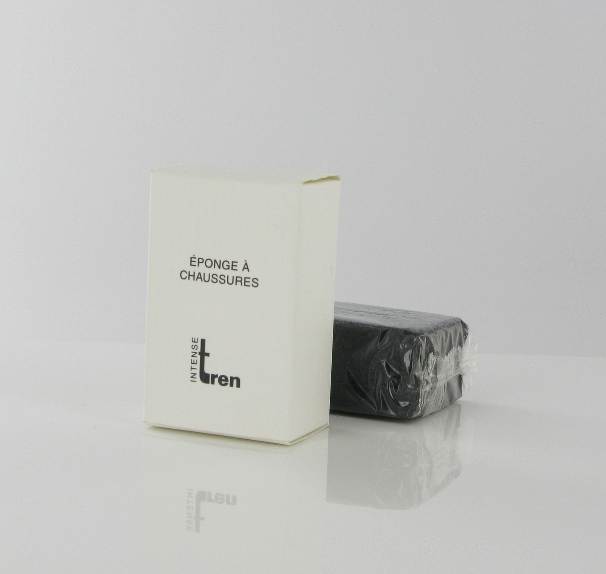 Carton 250 éponges à chaussures tissu 3,80x6 cm Tren (250 pièces)