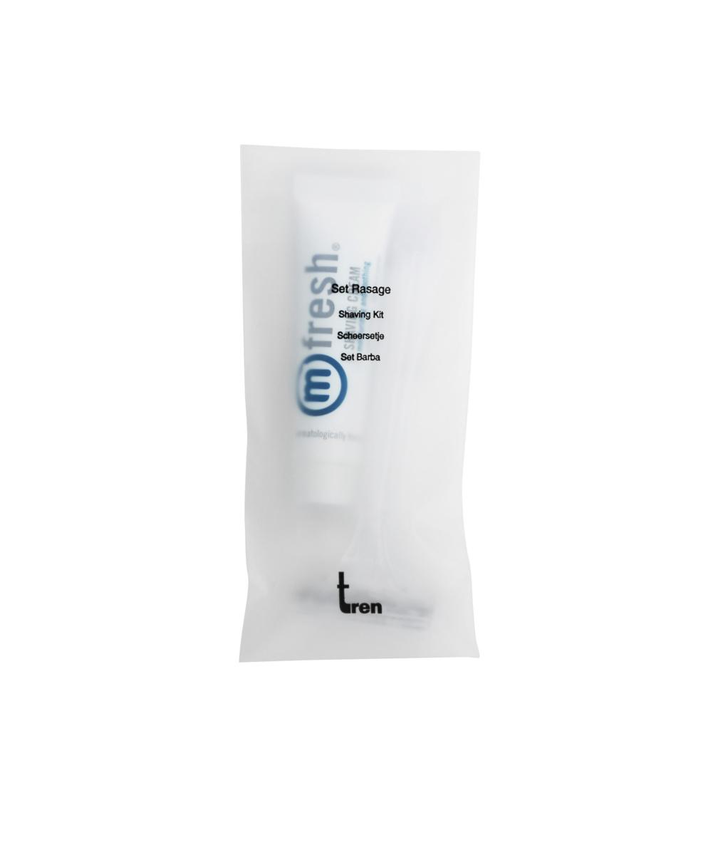 Carton 50 kits rasage plastique 7,70x14,50 cm Tren (50 pièces)