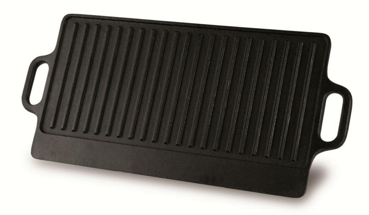 Plancha rectangulaire fonte d'acier 23x42 cm
