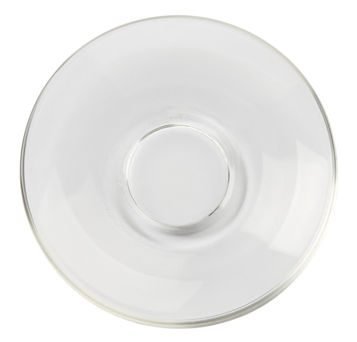 Sous-tasse à thé ronde transparente verre 30 cl Ø 15,20 cm Dolce Pro.mundi
