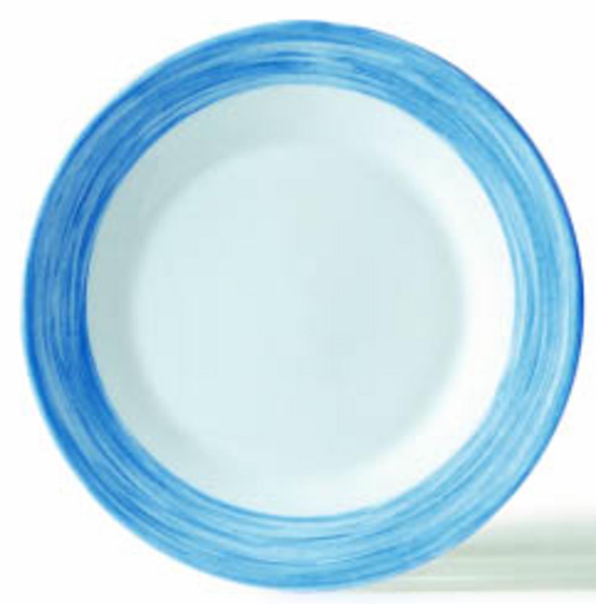Assiette creuse ronde blue jean verre Ø 22,50 cm Brush Arcoroc