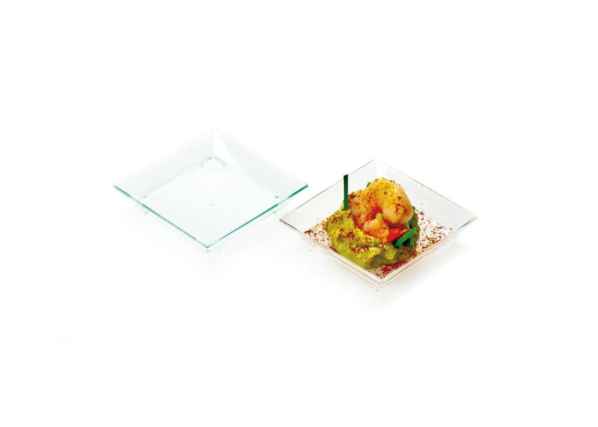 Verrine carrée transparente 6x6 cm 2 cl (50 pièces)