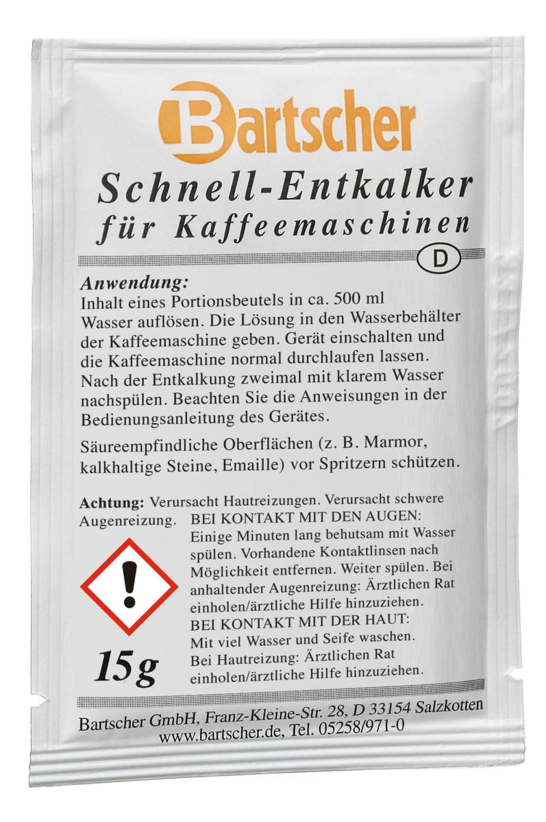 Détartrant spécial machine à café 4x68 mm Bartscher (30 pièces)