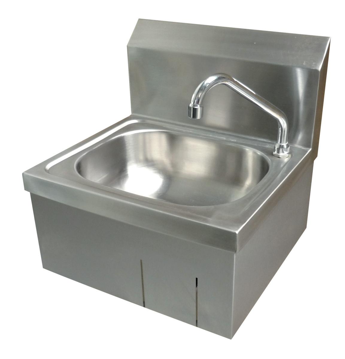 Lave-mains inox 33x40 cm