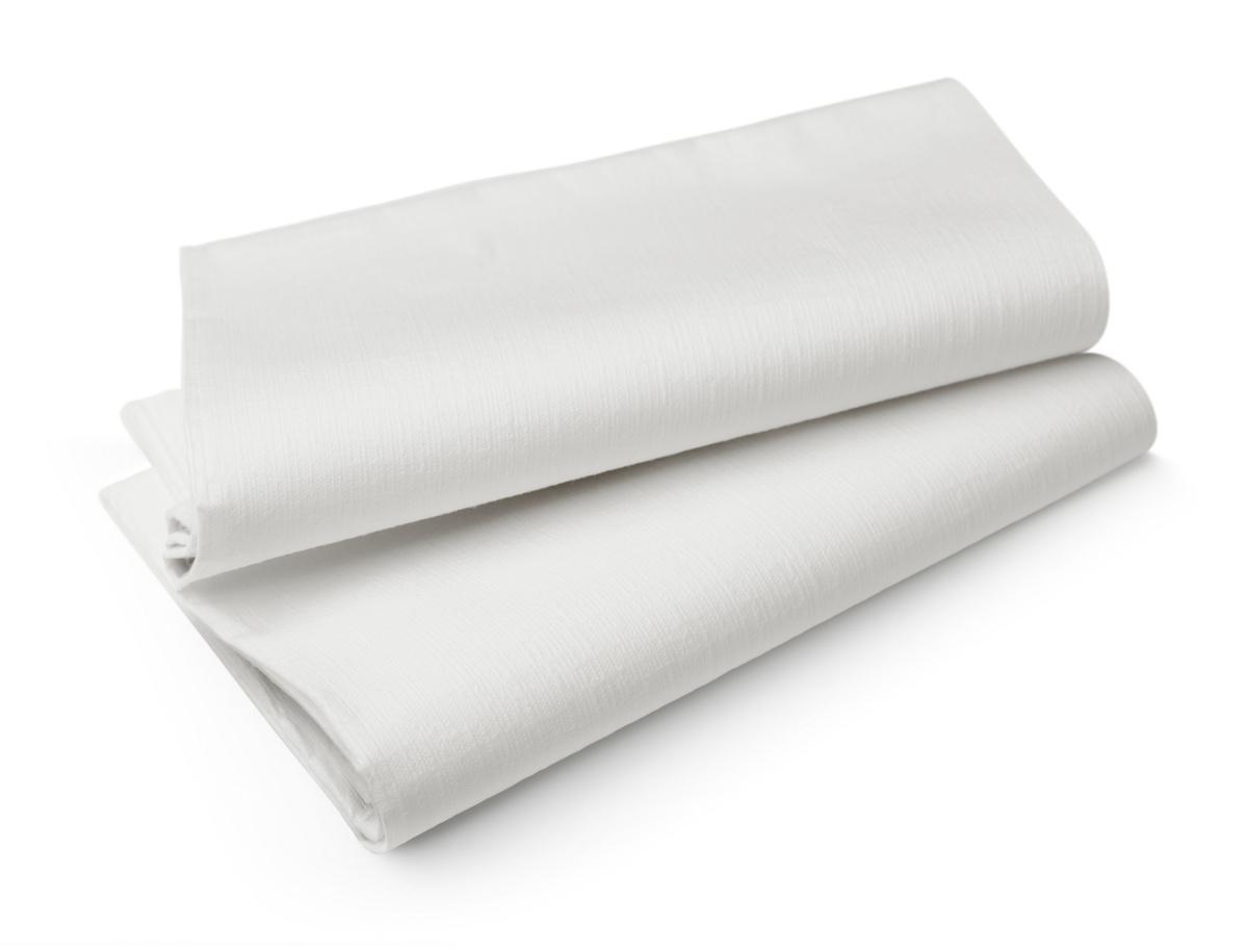 Nappe blanc non tissé 127x220 cm Evolin Duni (25 pièces)