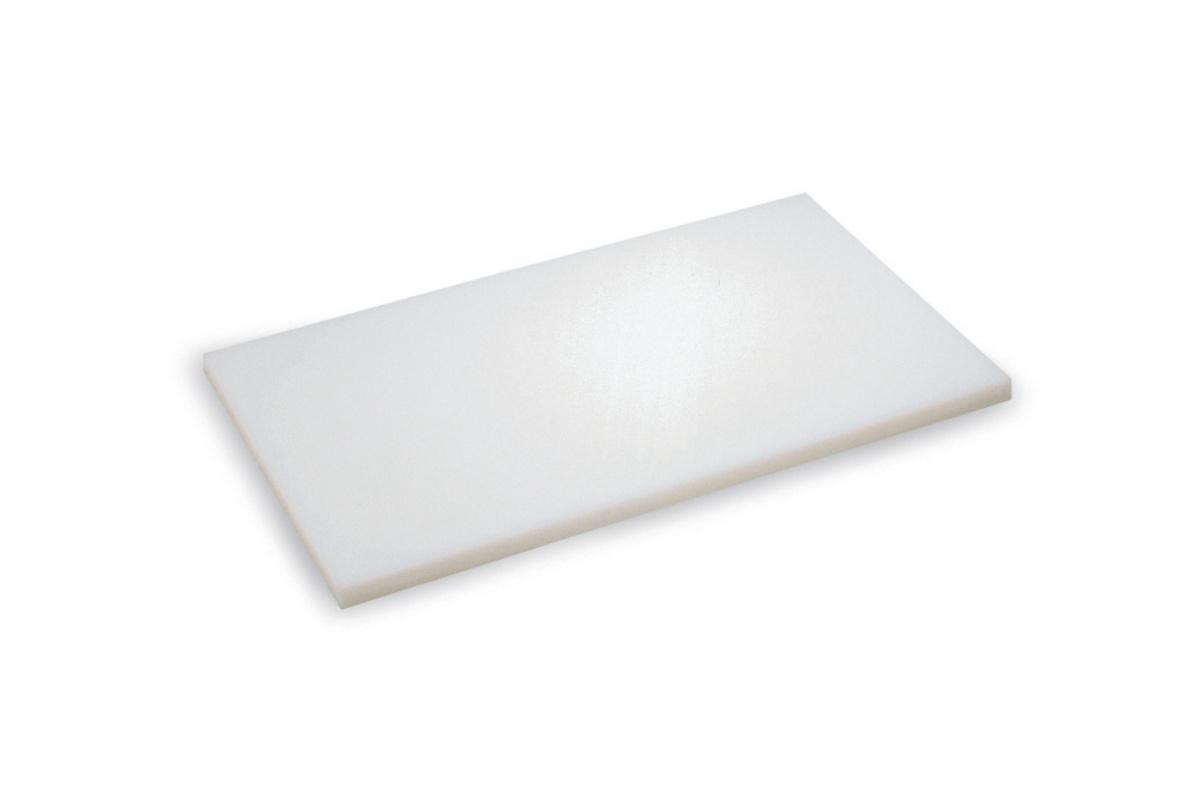 Planche à découper blanc polyéthylène haute densité 40x60 cm pâtissier Sans rigole Non réversible Pro.cooker