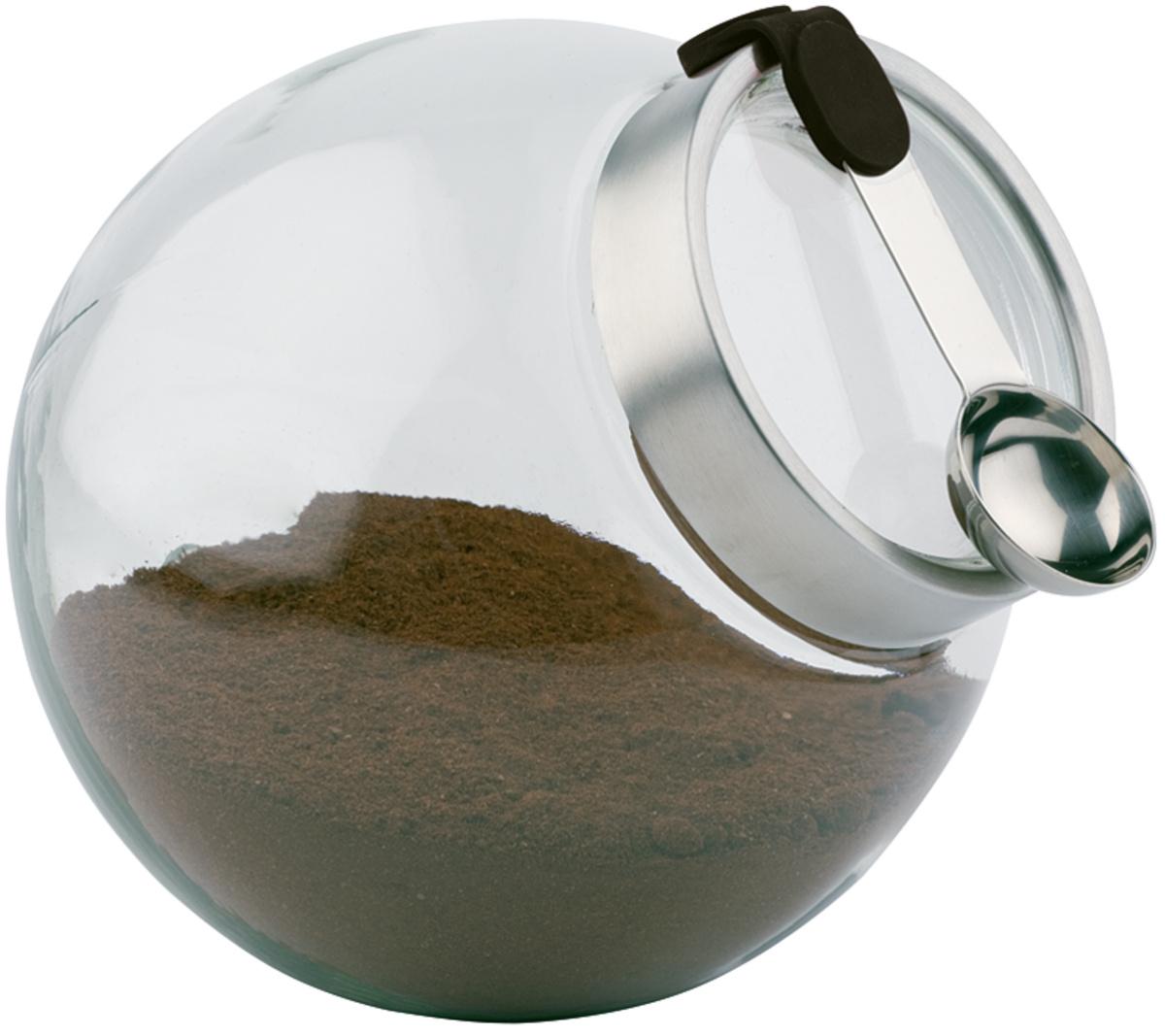 Bonbonnière avec cuillère ronde transparente verre 3 l Ø 20 cm Aps