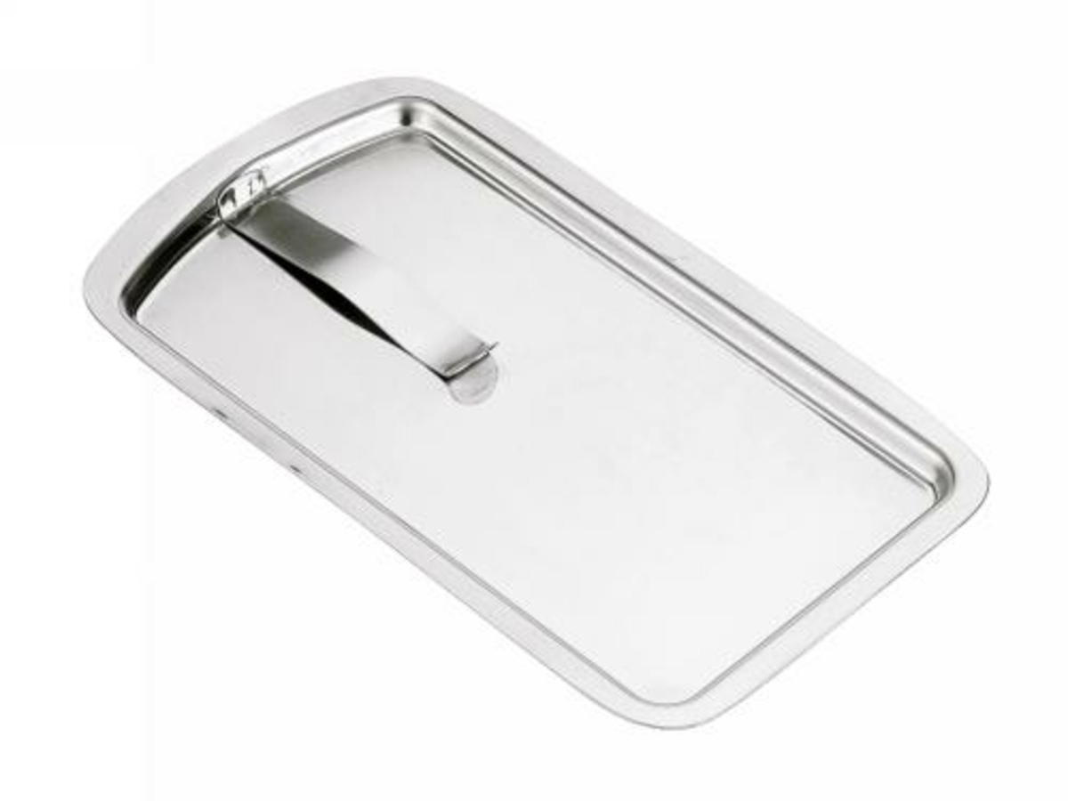 Porte-addition rectangulaire gris 12,4x21,5 cm Pro.mundi
