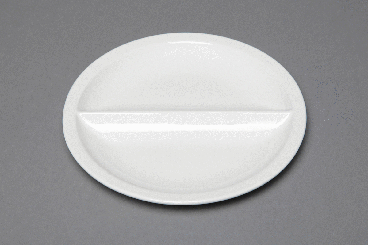 Assiette régithermie ronde ivoire porcelaine Ø 22,80 cm Hospital Rak