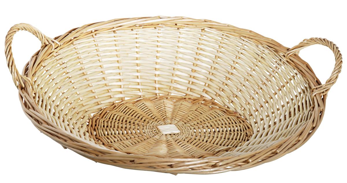 Corbeille ovale beige 46x50 cm 16 cm Pro.mundi