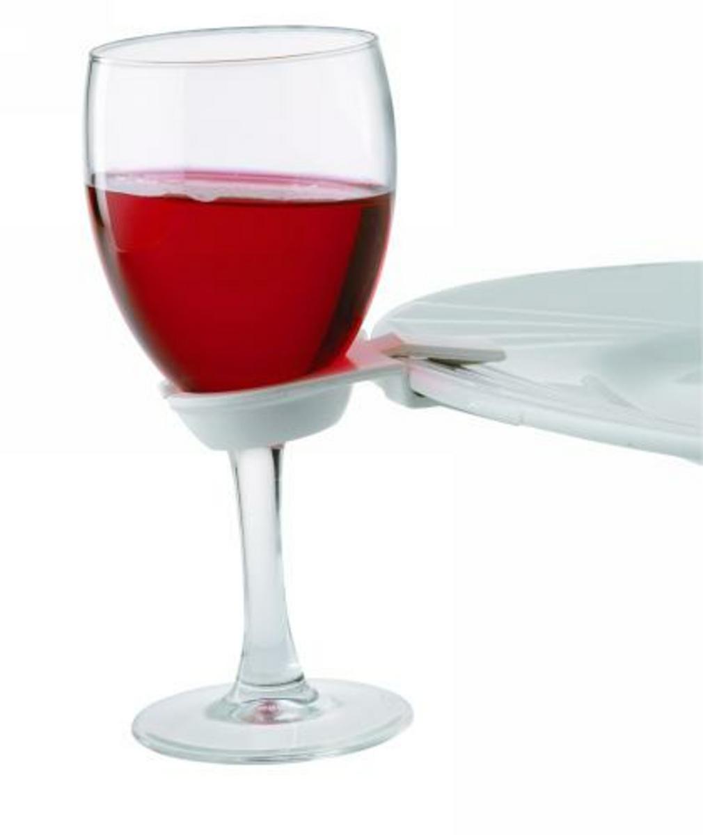 Accroche-verre blanc plastique Party Clips (20 pièces)