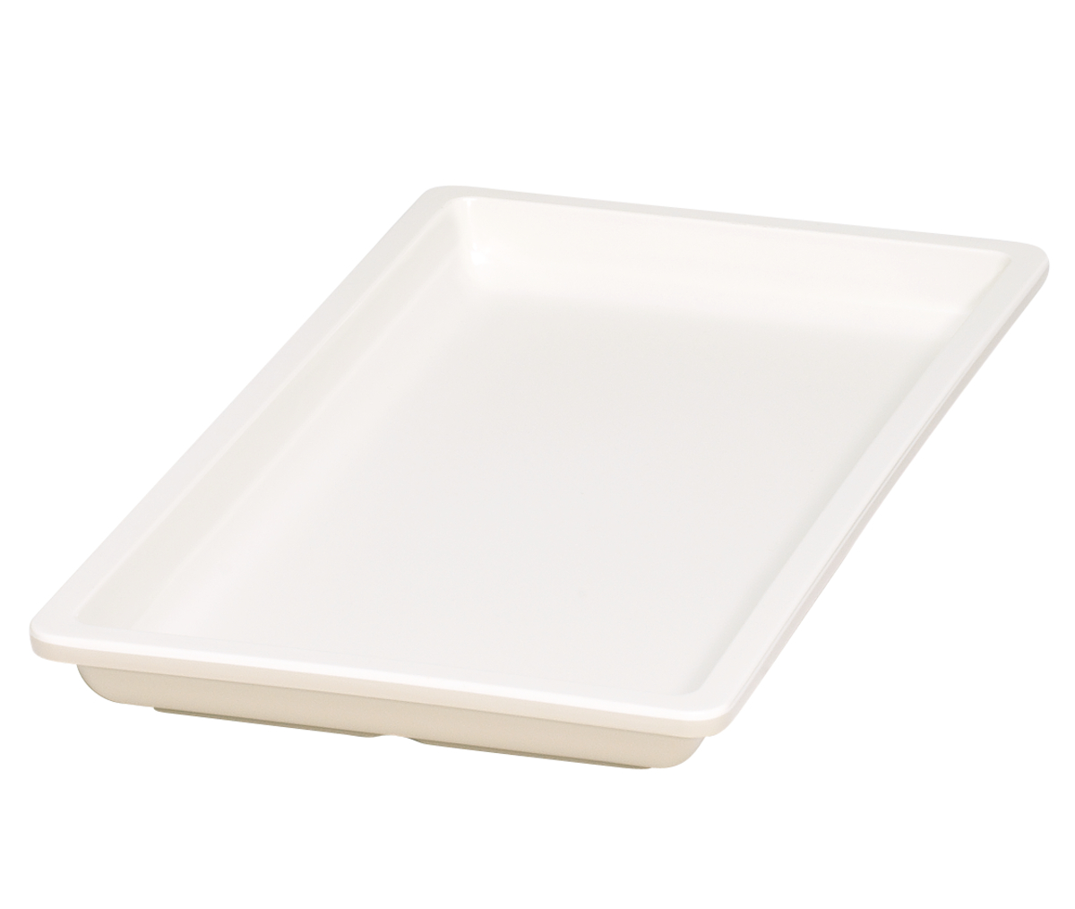 Bac gn 1/3 rectangulaire beige mélamine 32,50 cm Vestah Platex