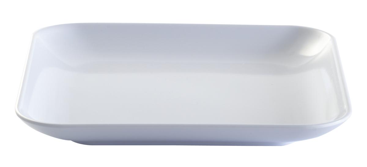 Assiette plate carrée blanc mélamine 13,50x13,50 cm Platex