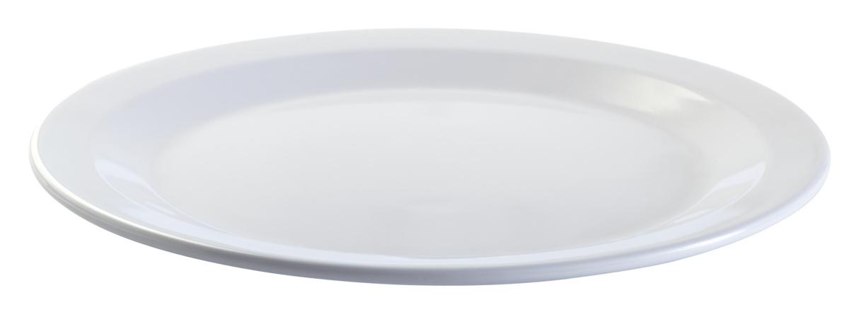 Assiette plate ronde blanc mélamine Ø 22,50 cm Platex