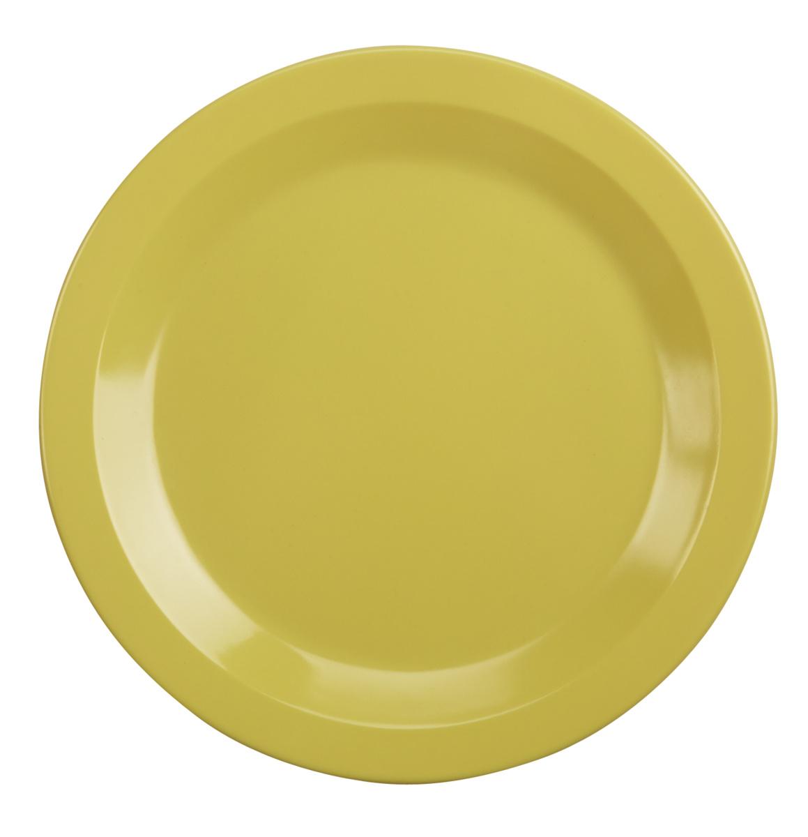 Assiette plate ronde jaune mélamine Ø 22,50 cm Platex