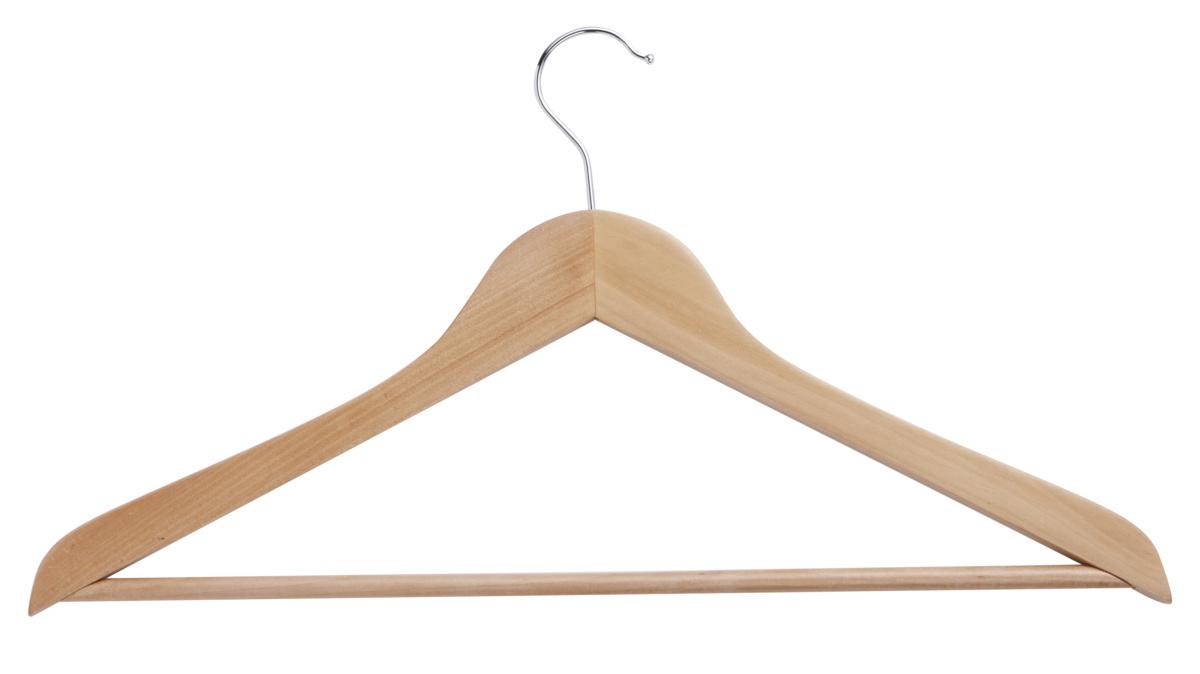 Cintre barre bois naturel beige 44,50 cm