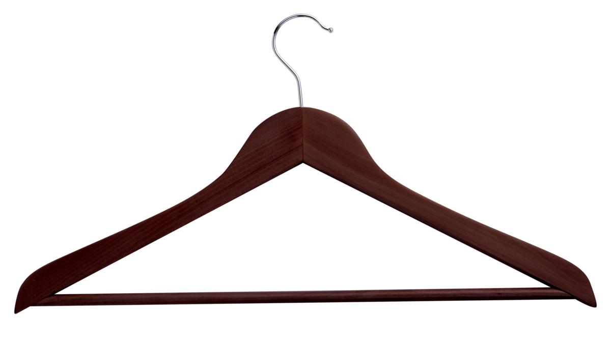 Cintre barre bois wengé brun 44,50 cm