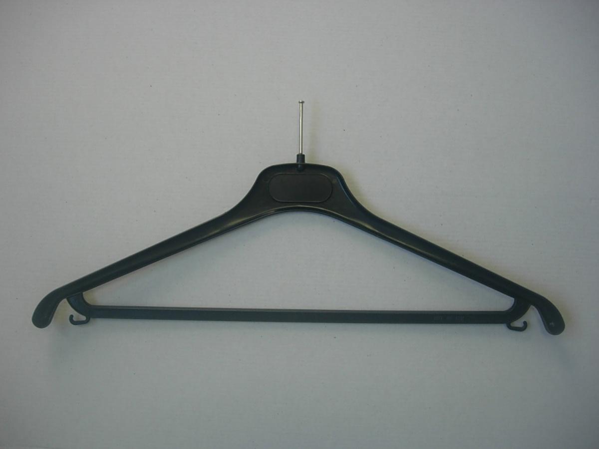 Cintre antivol avec barre et crochets sans anneau plastique noir 42 cm