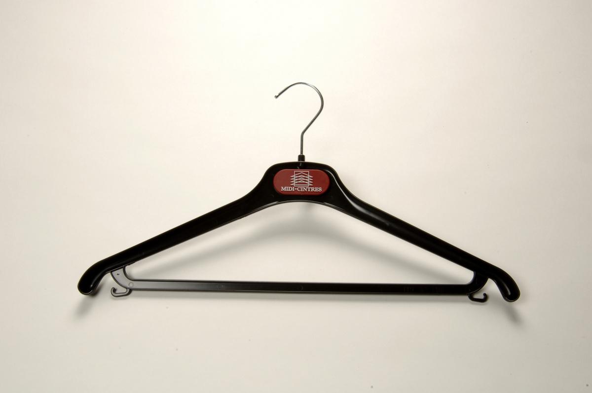 Cintre barre et crochet plastique 42 cm