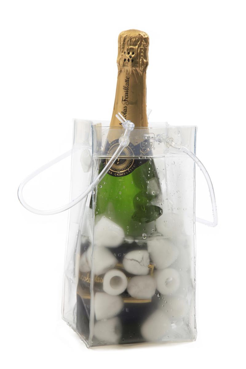 Sac pour bouteille transparent 11 cm Ice Bag