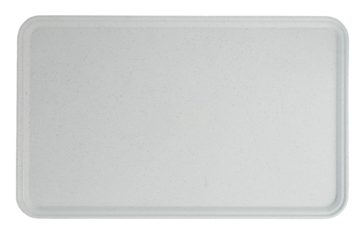 Plateau gris polyester bord droit