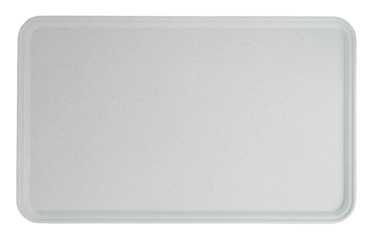 Plateau gris polyester bord droit Cambro