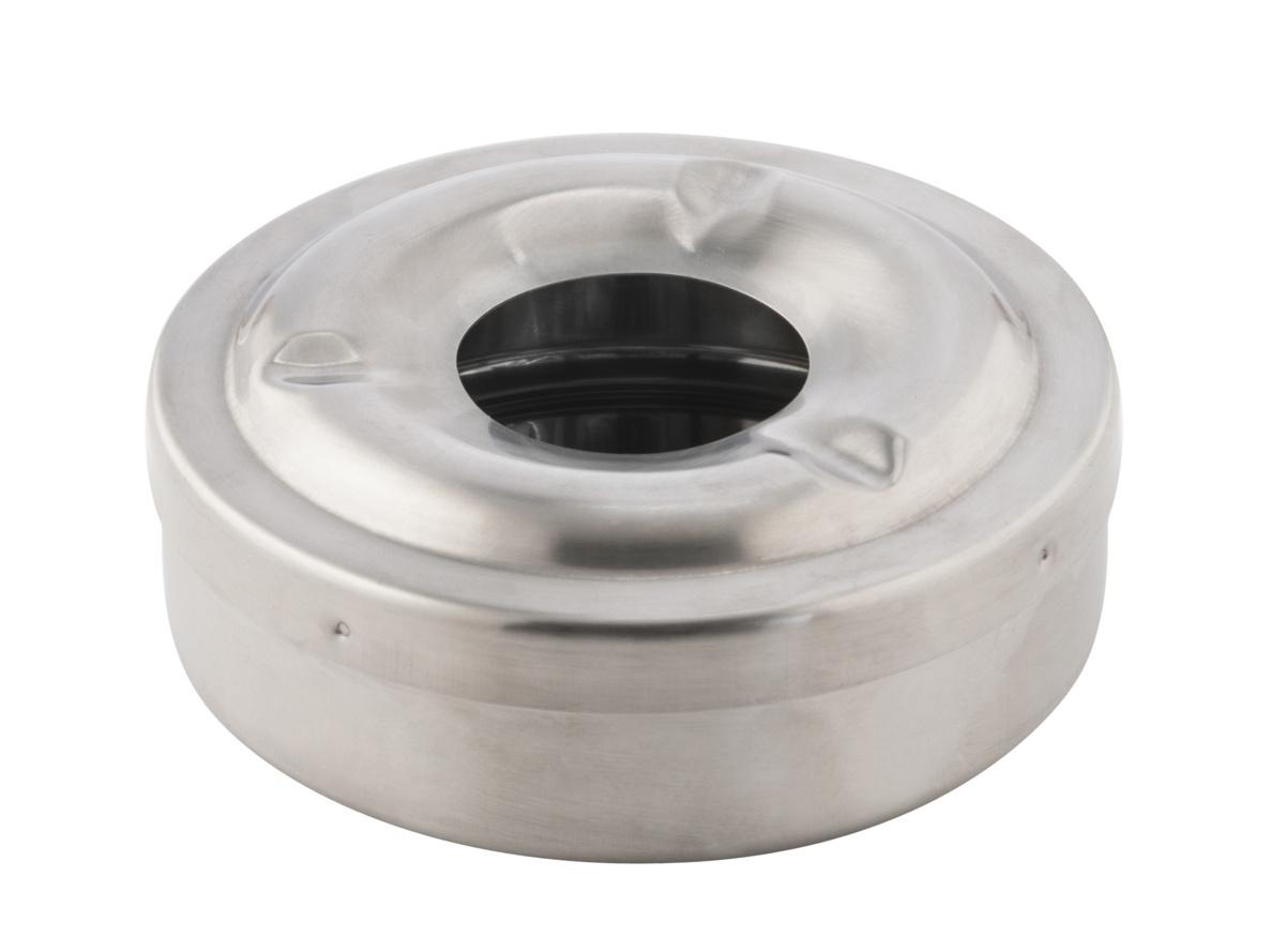 Cendrier anti-vent rond gris Ø 11 cm 4 cm Pro.mundi