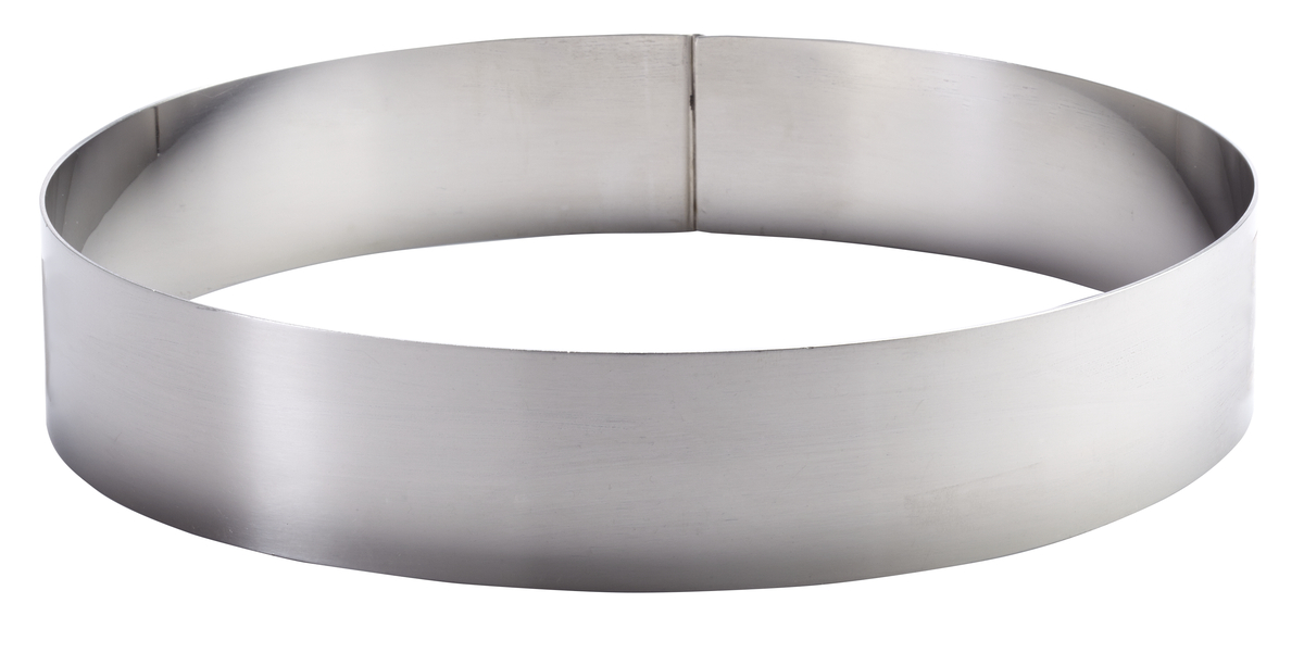 Cercle à mousse inox Ø 12 cm