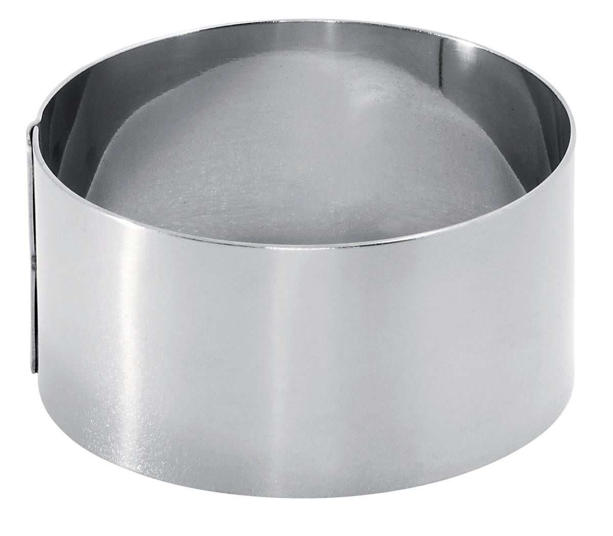 Cercle à mousse inox Ø 8 cm