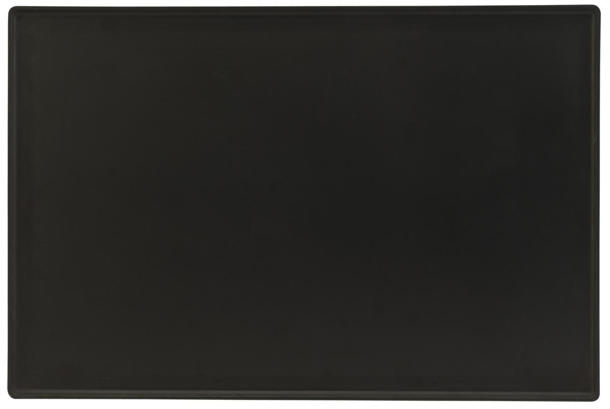 Plat de présentation rectangulaire noir mélamine 60 cm Vestah Platex