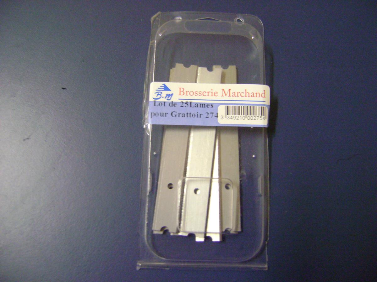 Lot de 25 lames pour grattoir 10 cm (25 pièces)