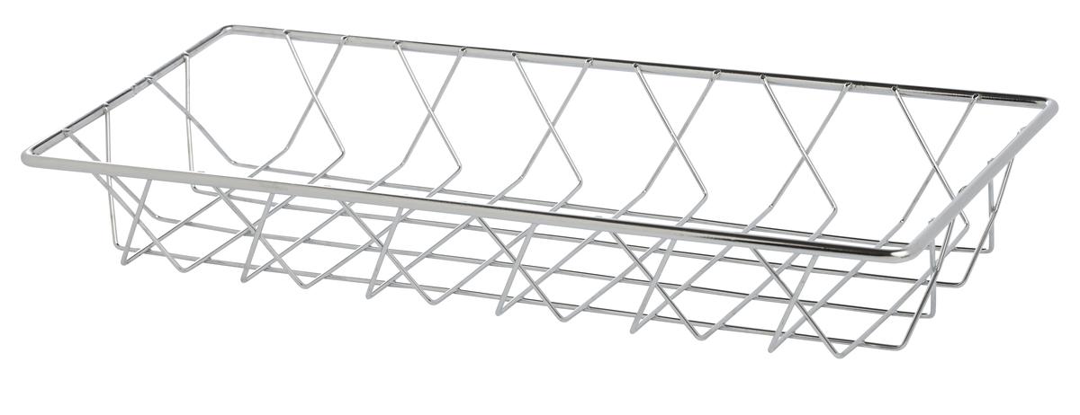 Corbeille rectangulaire gris 15x35,30 cm 5,20 cm Pro.mundi