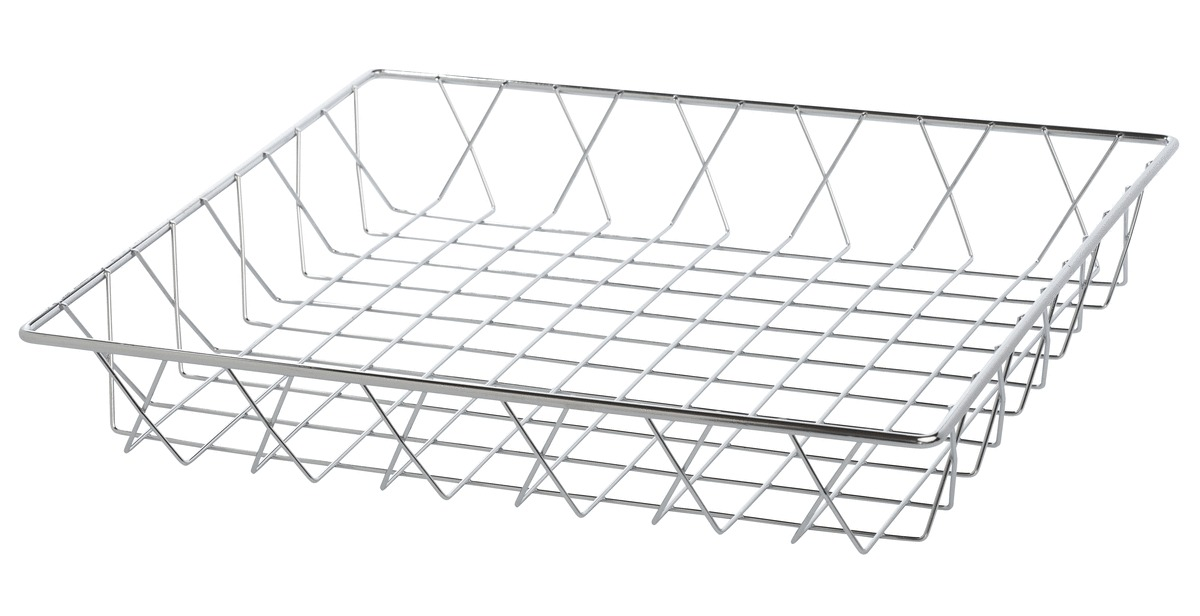 Corbeille rectangulaire gris 30,50x35,50 cm 5,50 cm Pro.mundi