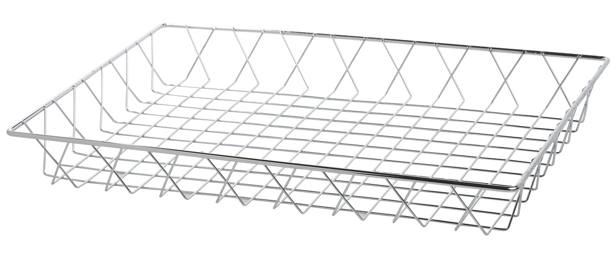 Corbeille rectangulaire gris 30,50x45,20 cm 5,50 cm Pro.mundi