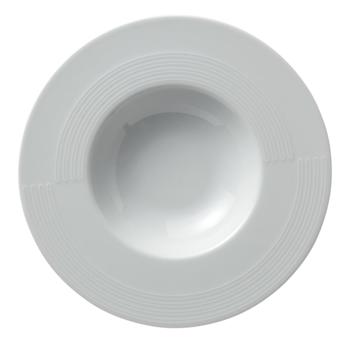 Assiette extra creuse rond blanc Gourmet